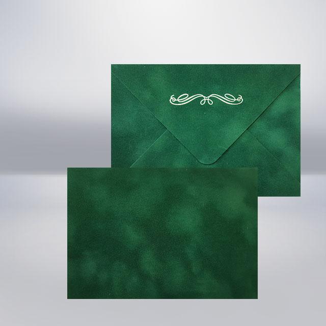 C6 Бархатний конверт forest
